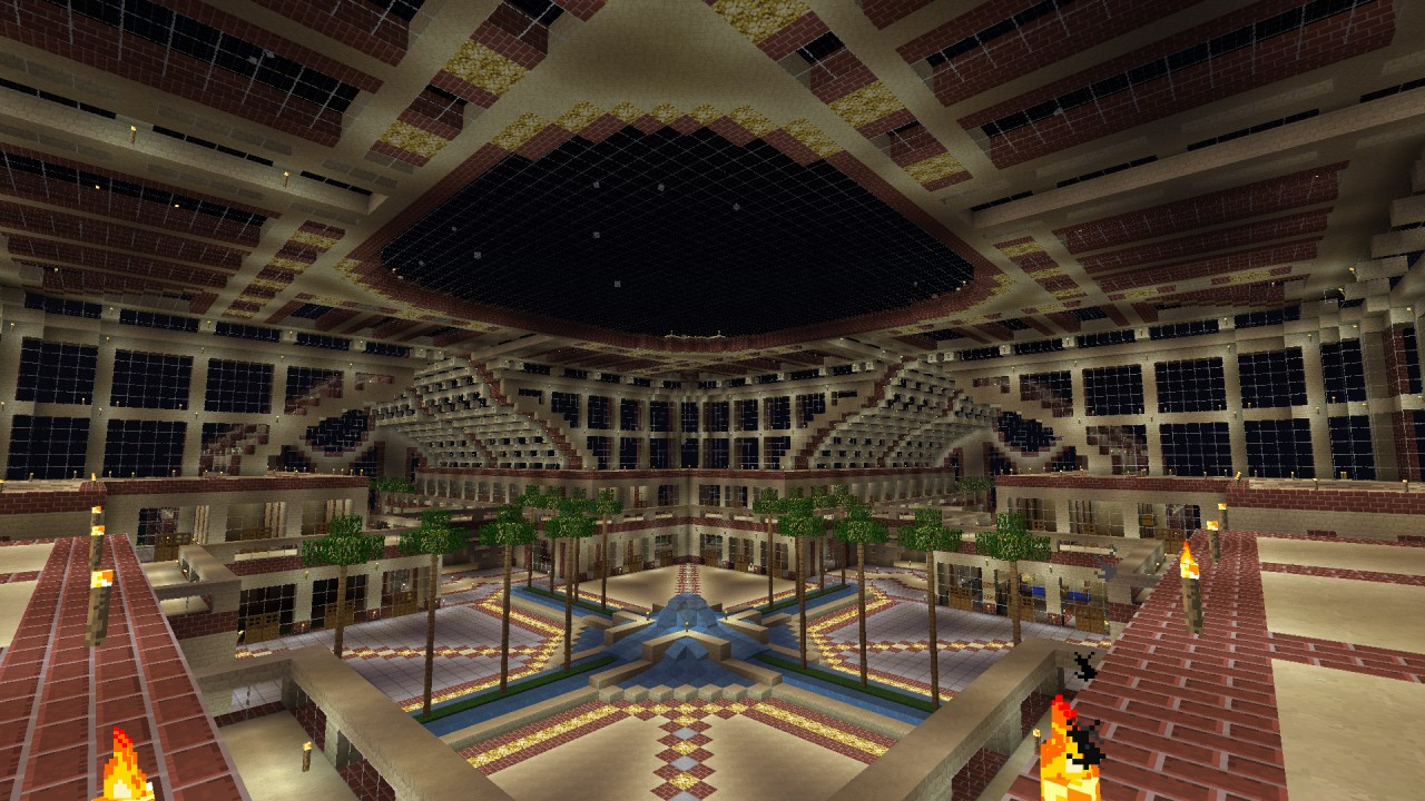 Gigantic Modern Mall Shopping Centre Minecraft Project