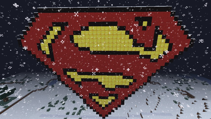 Superman logo PIXELIZED! :D
