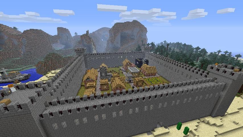 minecraft village fort minecraft project