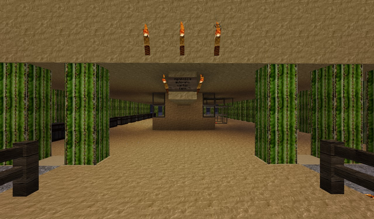 how to build a cactus farm in minecraft