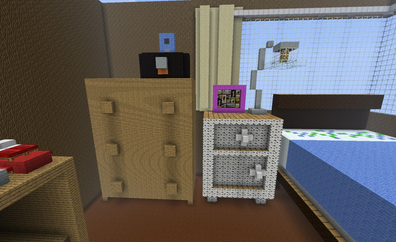 My Bedroom In Minecraft Minecraft Project