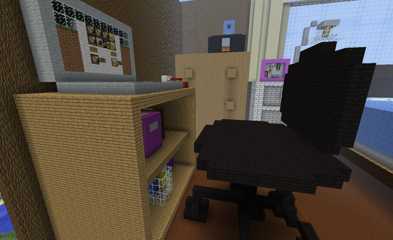 My bedroom in minecraft minecraft project for Bedroom ideas on minecraft