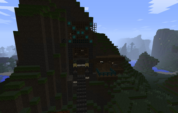 House inside mountain Minecraft Project