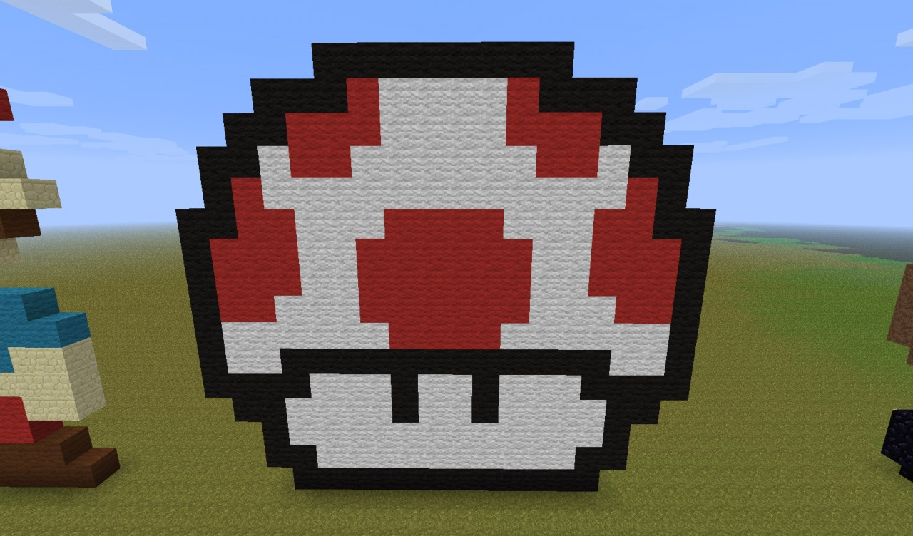 pixel art: 8-bit mario Minecraft Map