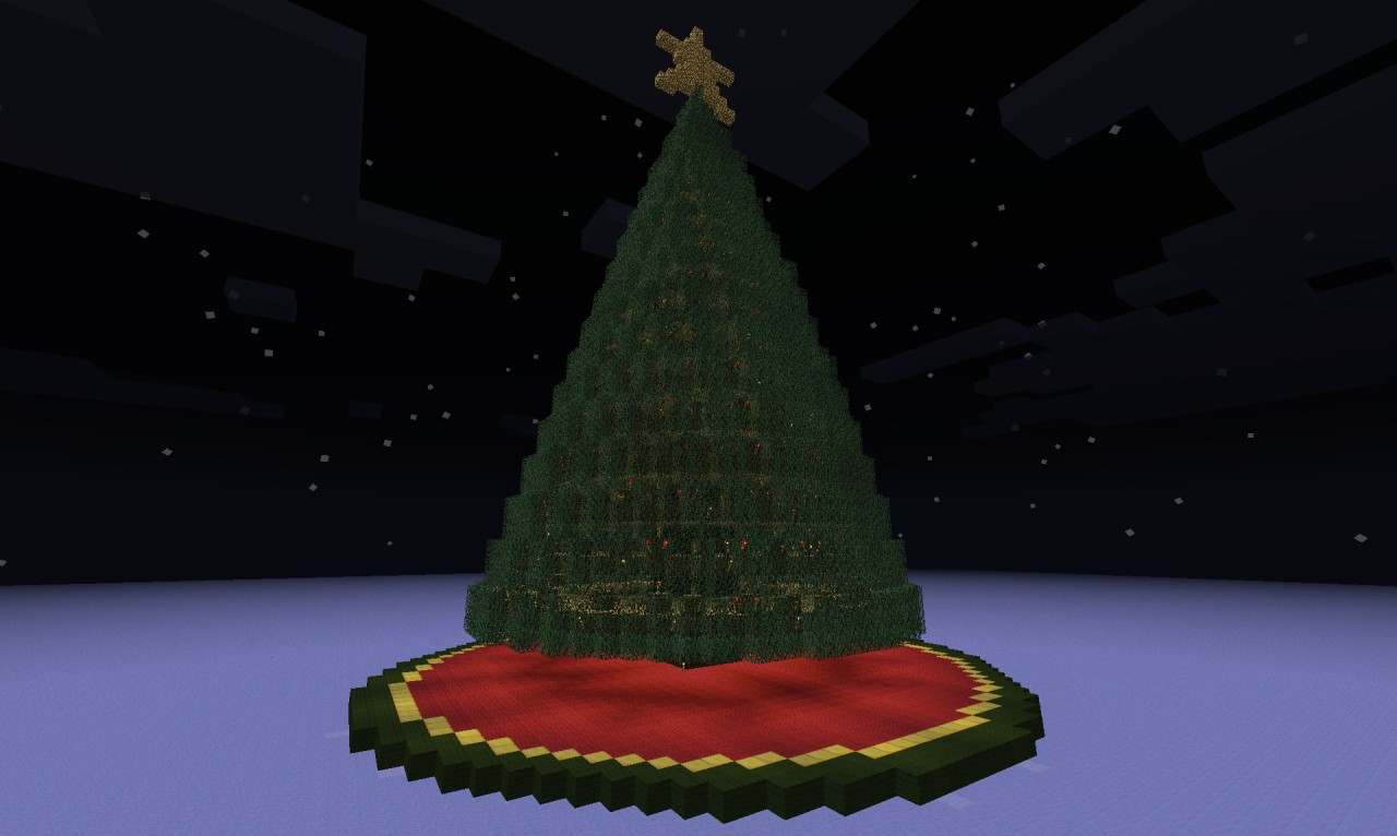 Christmas Tree (Red-Stone Lit) Minecraft Project