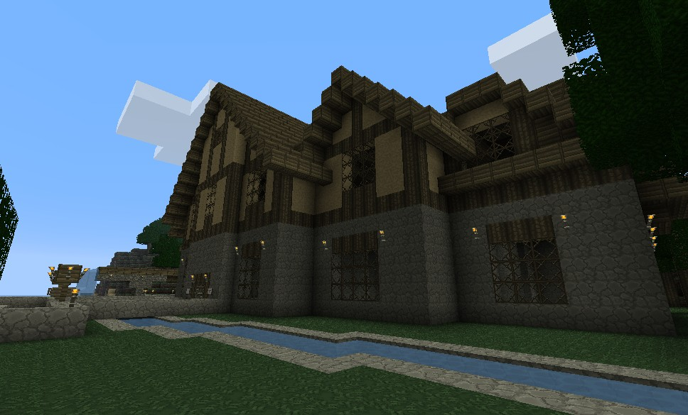 Minecraft - Biggest Mansion of the Server! - YouTube