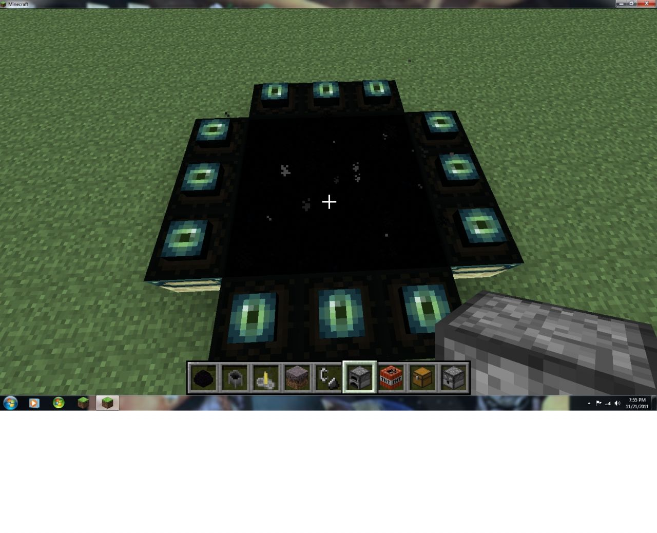 mine blocks how to make a ender portal