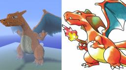 Huge Charizard Statue (Diamonds or Fav if you liked it plz) Minecraft Map & Project