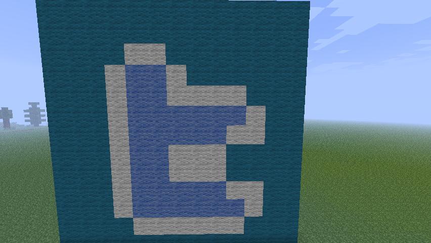 Twitter Logo Pixel Art Minecraft Project