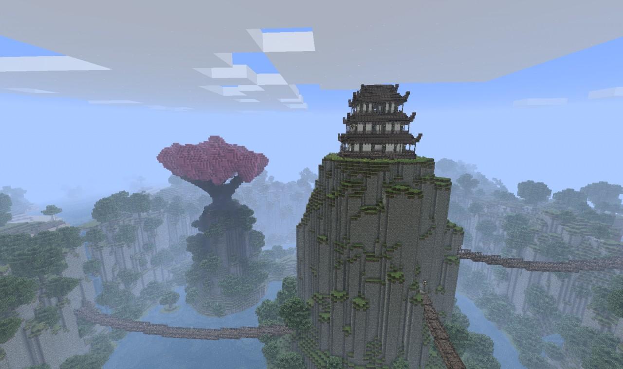 Asian City Around A Ravine Minecraft Project