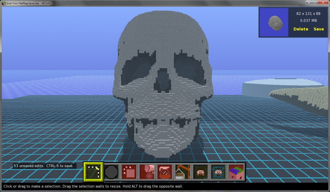 how to make a skull in minecraft