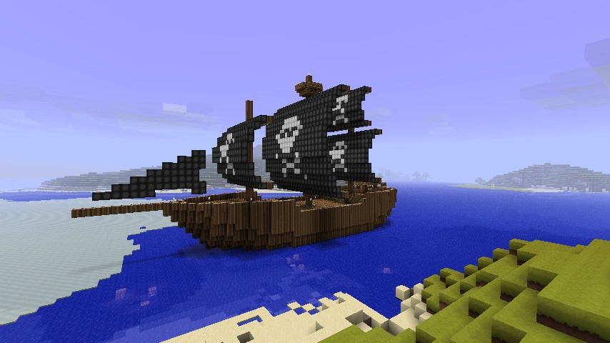 how to build a boat in minecraft that moves