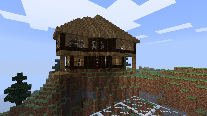 Nice Mountain House Download Minecraft Project