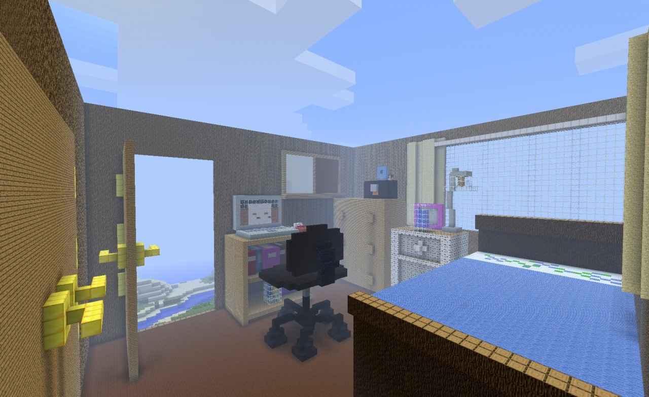 My bedroom in minecraft minecraft project for Bedroom nothing lasts