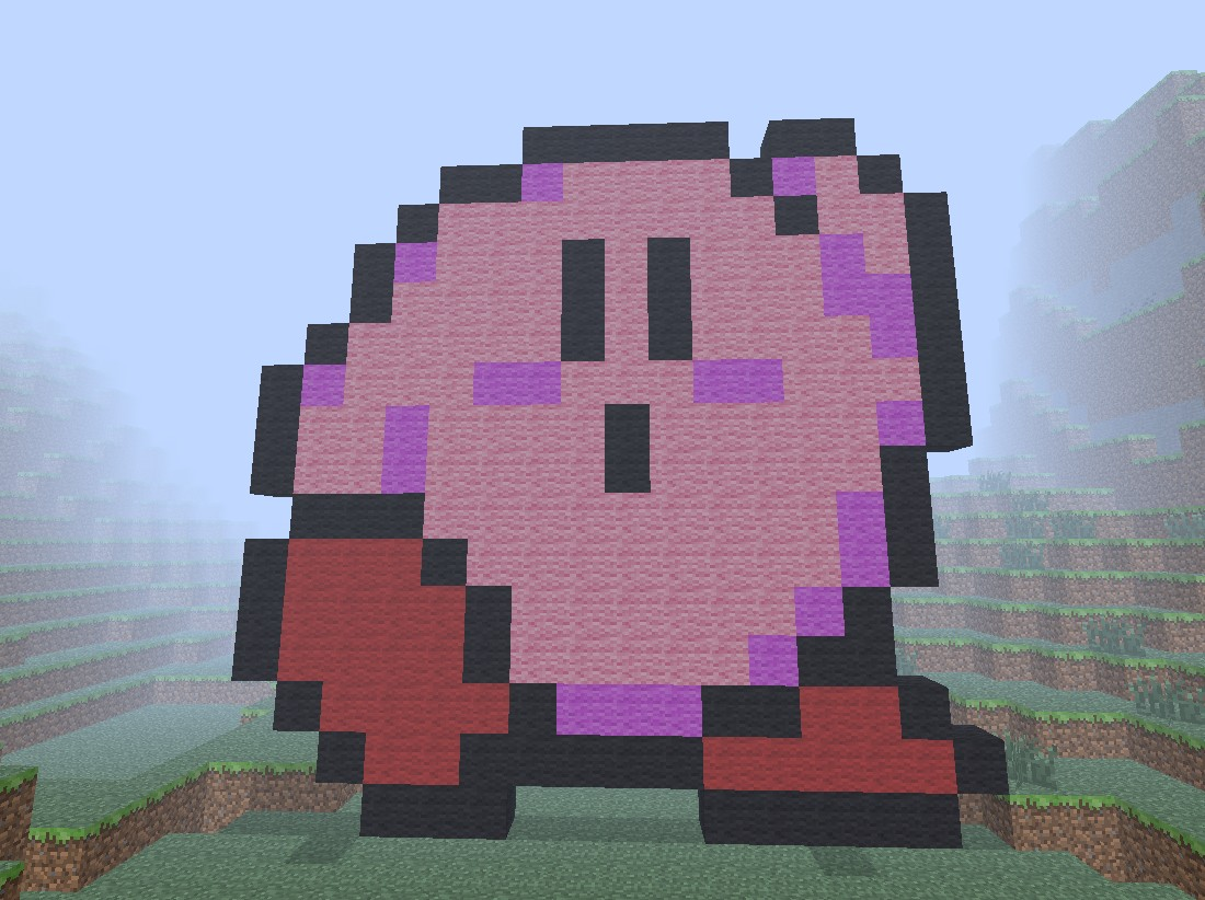 Kirby Pixel Art Minecraft Map