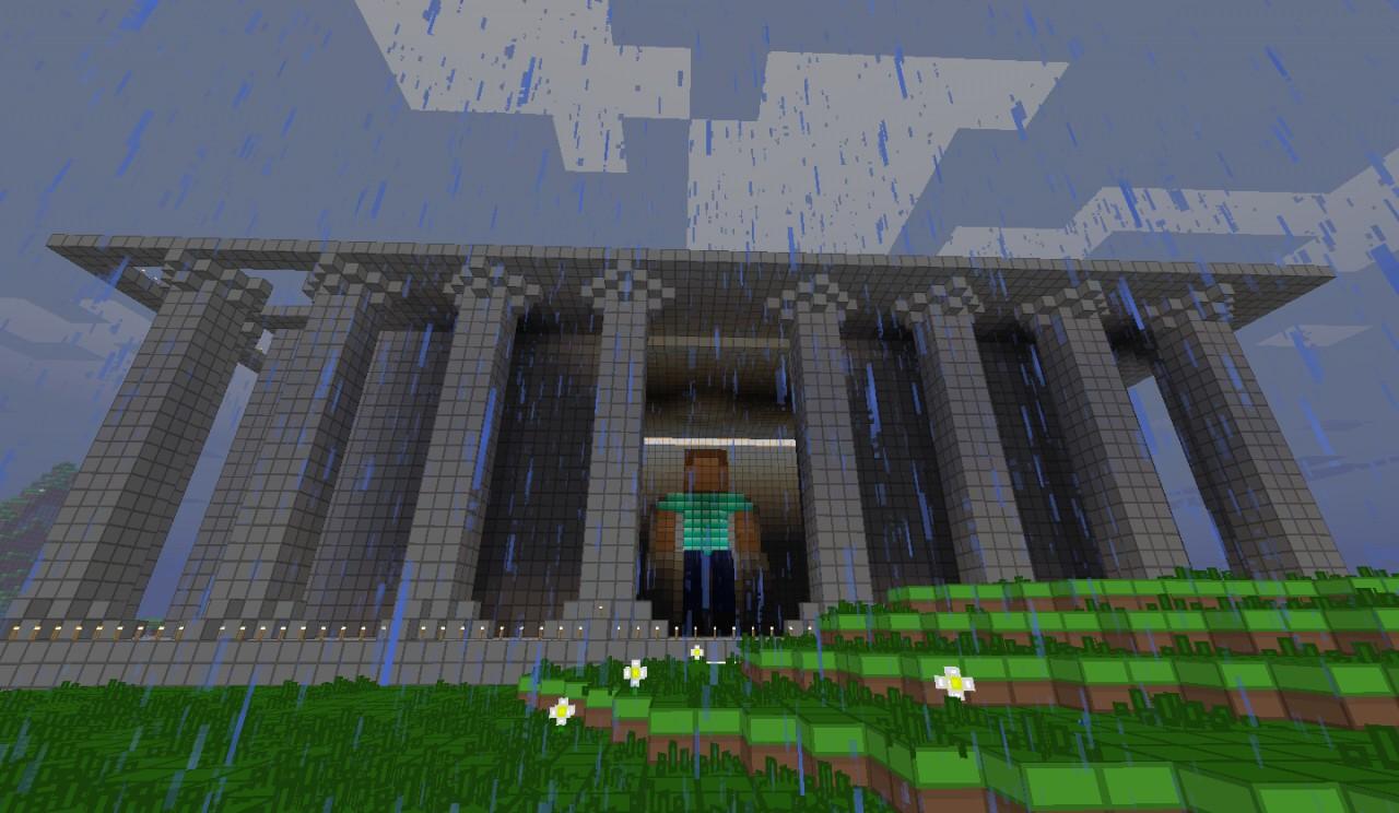 Steve Memorial Abraham Lincoln Memorial Minecraft Project