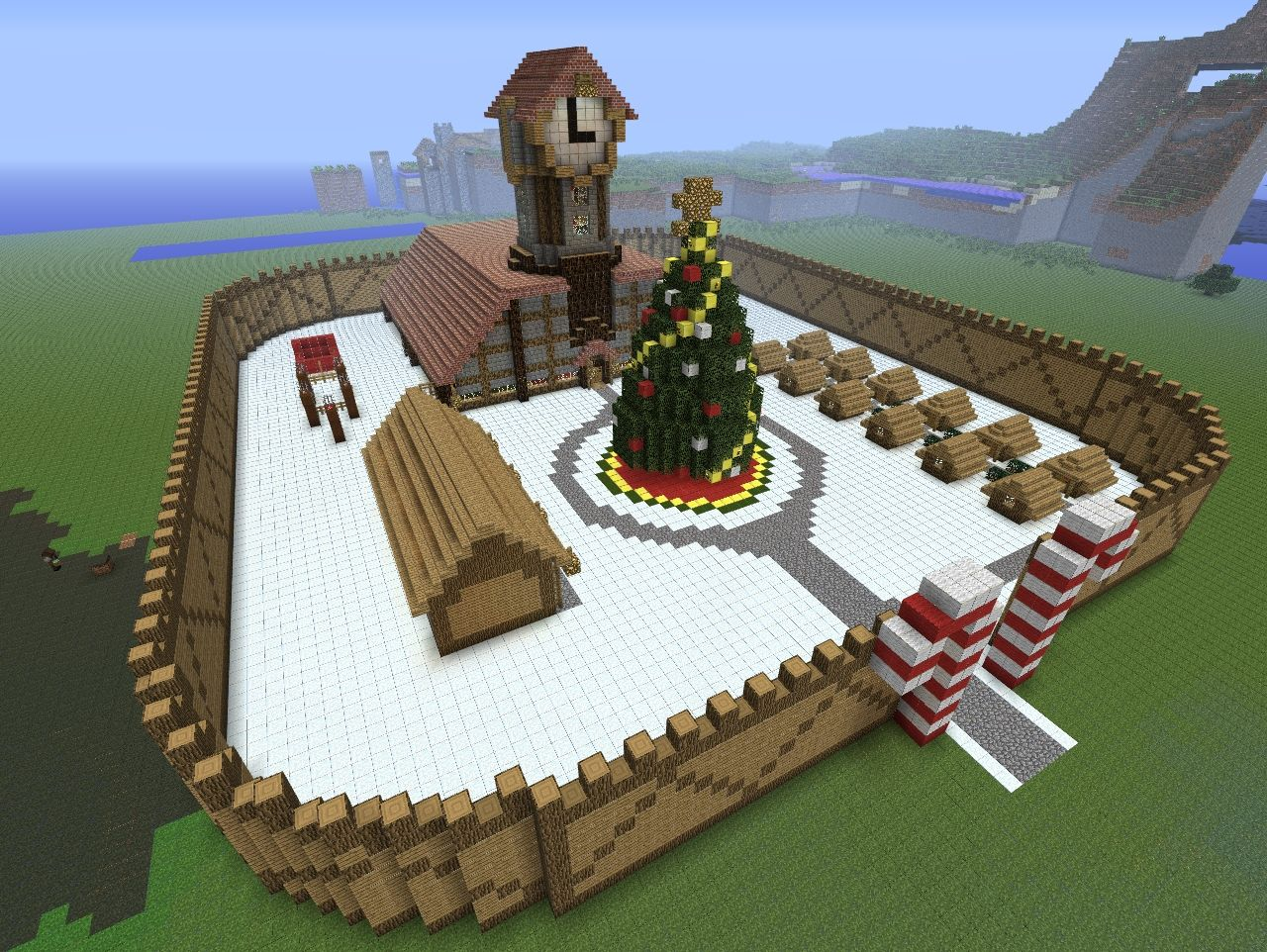 how to make a minecraft christmas house