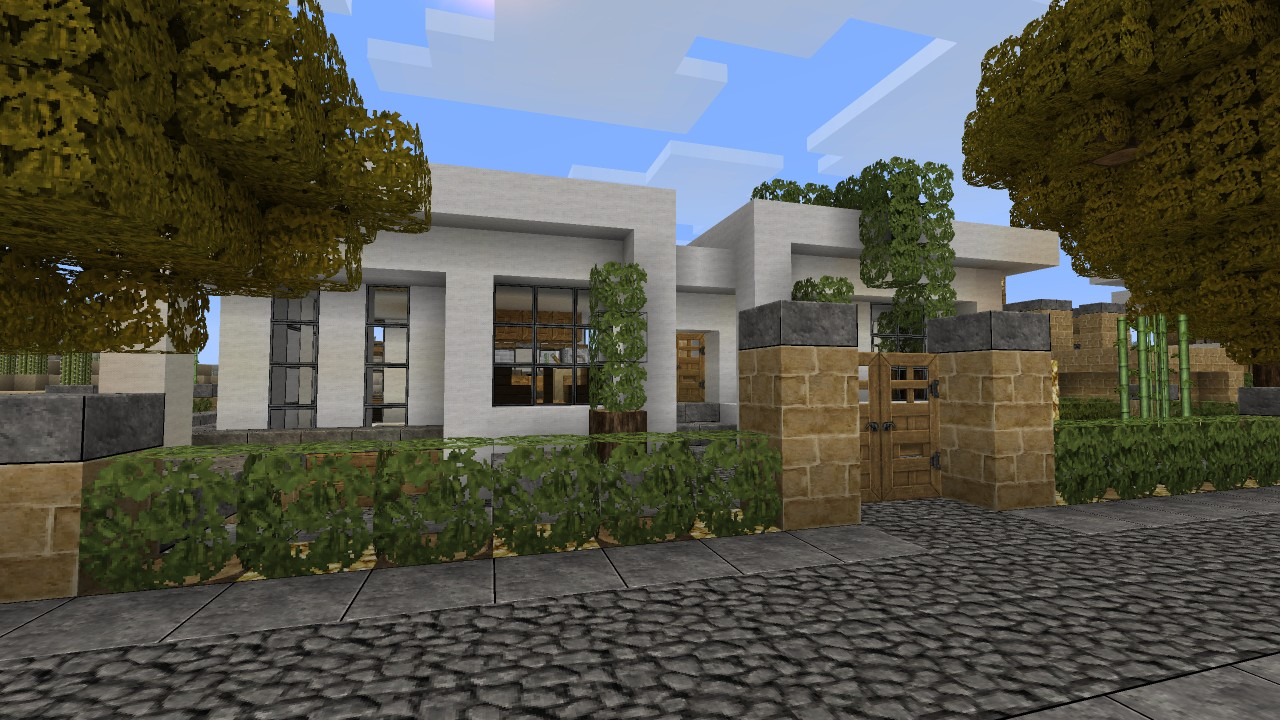 Simple modern house tutorial 1 beach town project minecraft project - Simple modern house ...