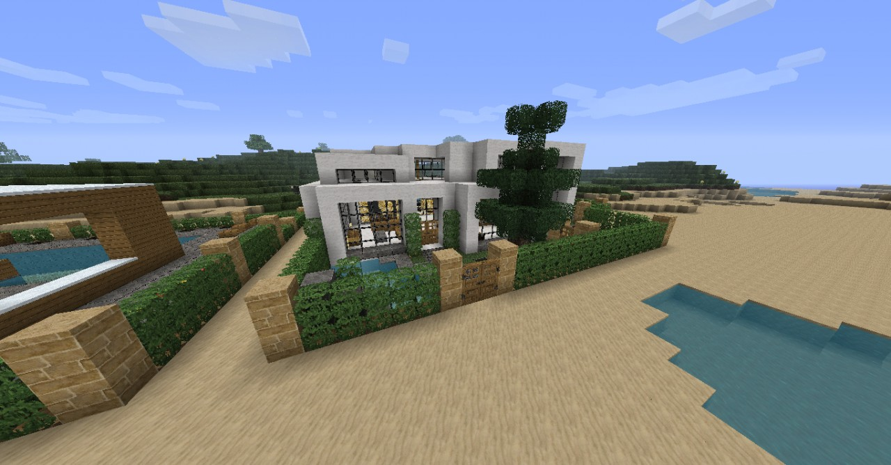 Minecraft modern house minecraft project for Minecraft modern house designs easy