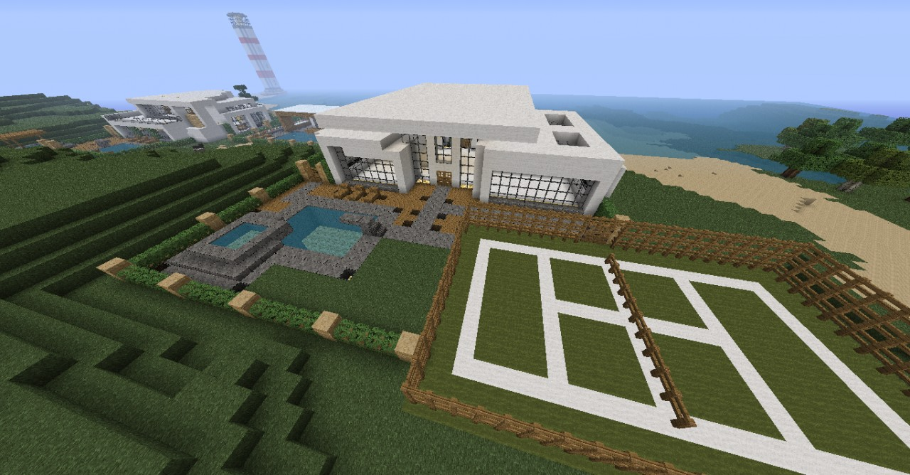 how to make a modern house on miecraft