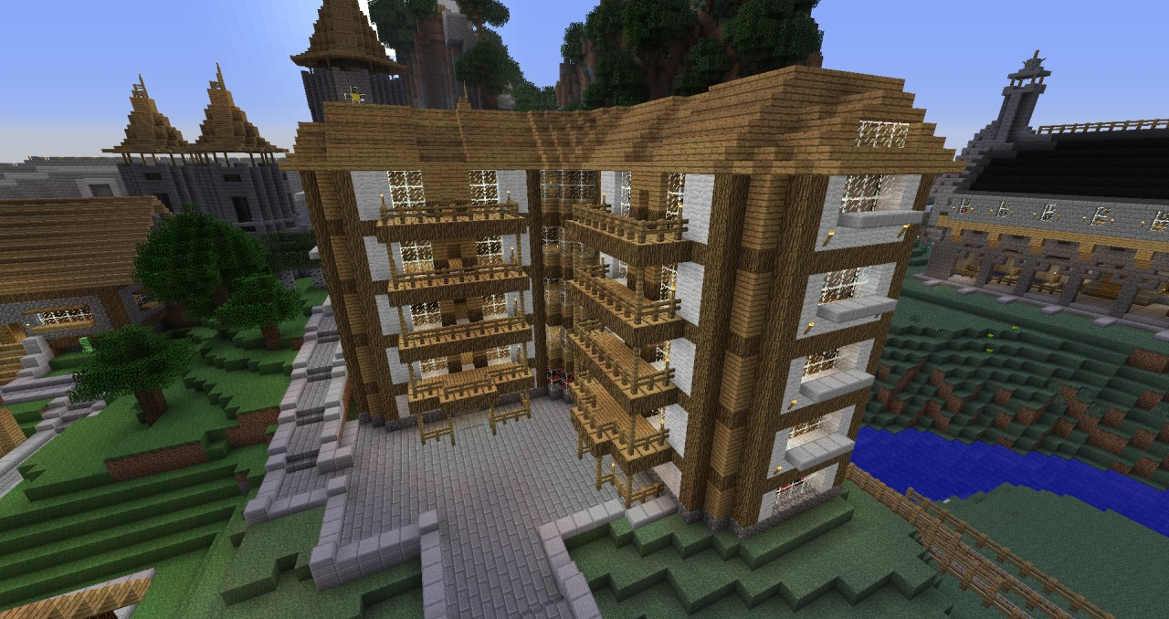 Wooden House Building Minecraft