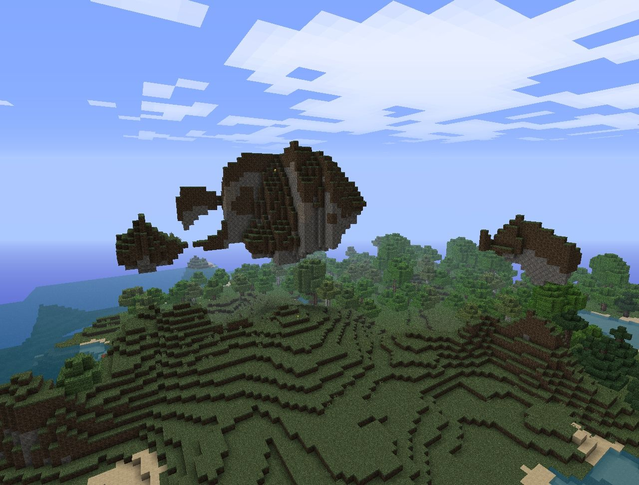 Some floating islands