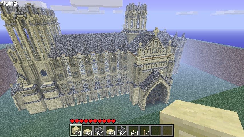 Mega Cathedral Church Sandstone Minecraft Project
