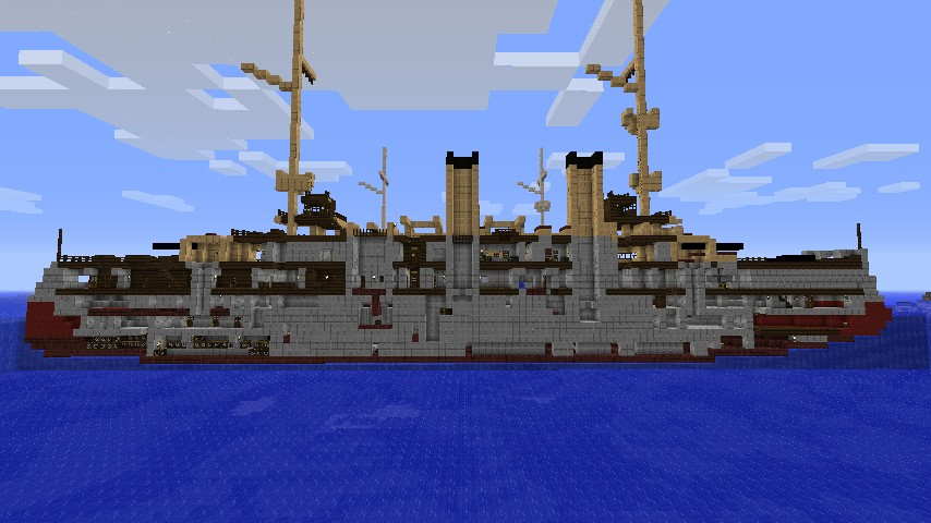 Uss Olympia C 6 1 25 1 Scale Minecraft Project
