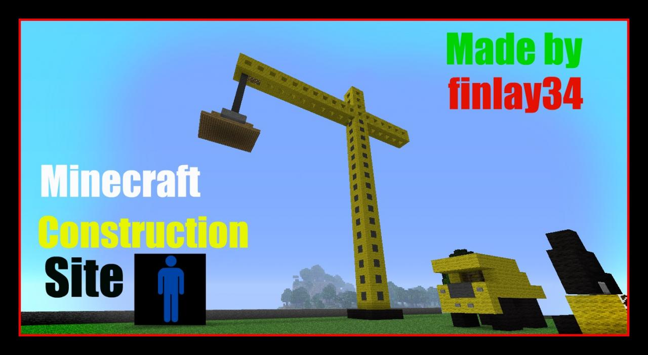 construction site minecraft project. Black Bedroom Furniture Sets. Home Design Ideas