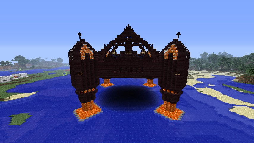 Nether Brick Castle Minecraft Project