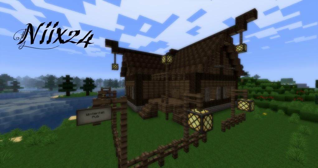 Minecraft Pub by Voxelbit on DeviantArt