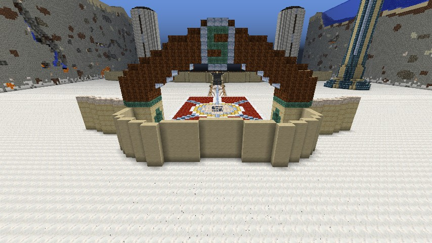 Front View  of Sky Castle (1of 5 main areas in the map)  from main entrance gate