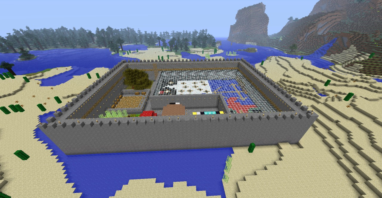 Self Sufficient Mob Proof Base on Minecraft Cobblestone House Designs