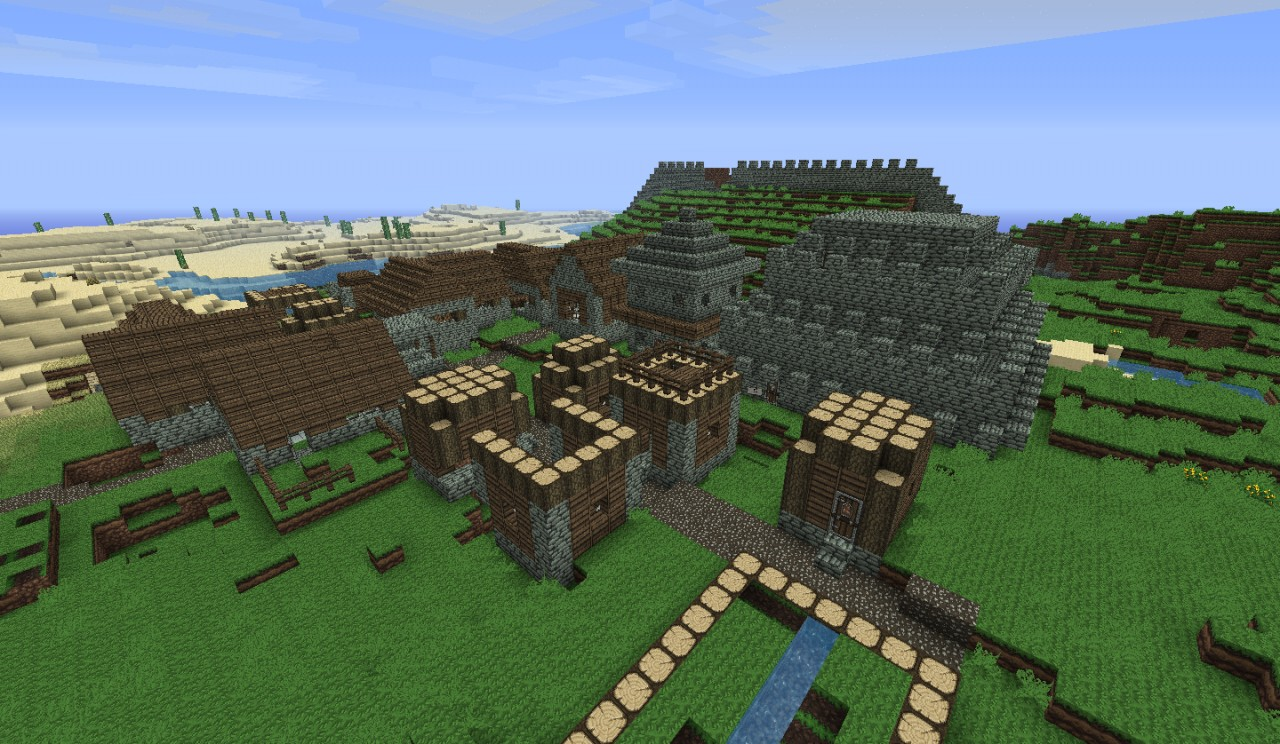 A colonized NPC village xD