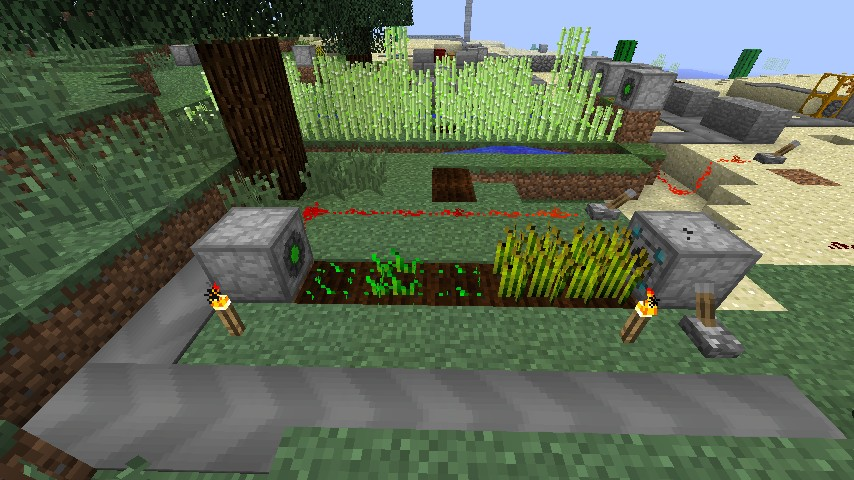 Wheat maker - bonemeal is in the builder.
