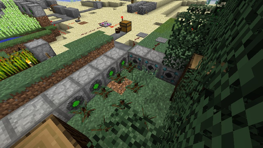 Automatic bonemeal-supplied tree farm