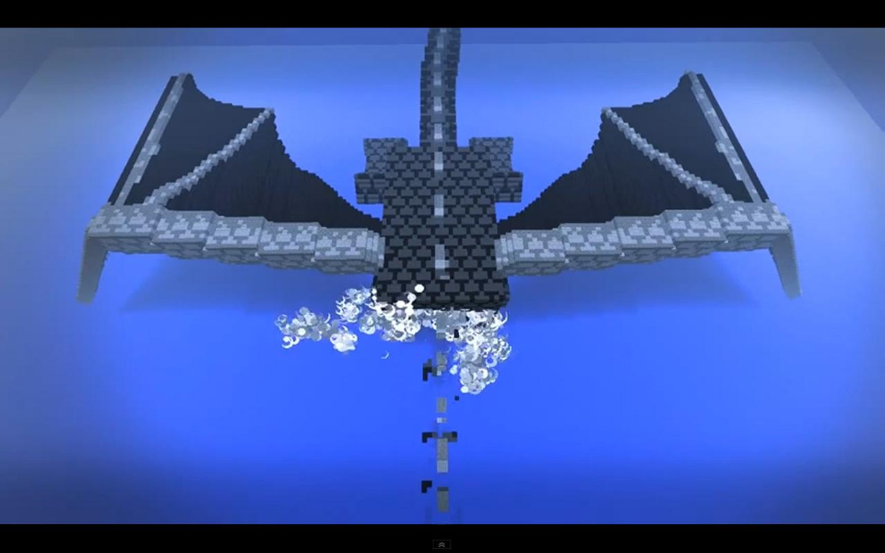 how to make a minecraft ender dragon statue