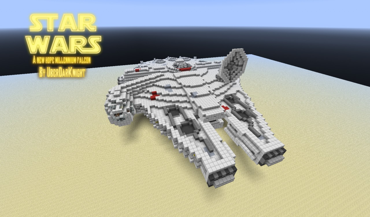 minecraft star wars how to build a x wing