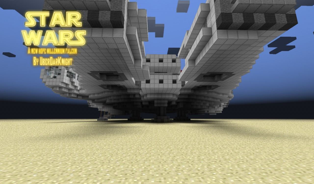 how to build the millennium falcon in minecraft