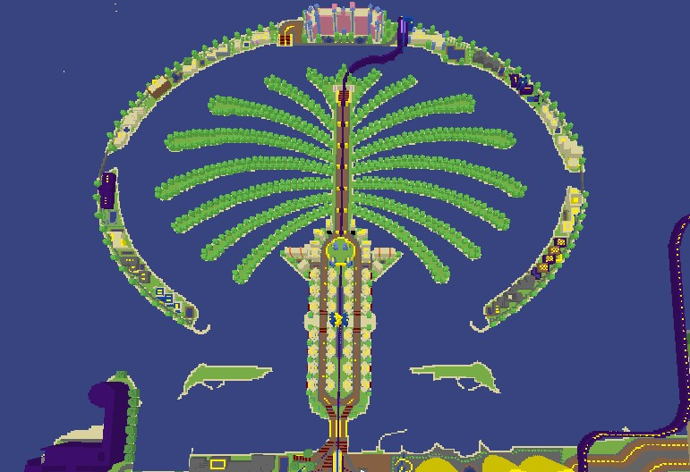 Palm Jumeirah Minecraft Project
