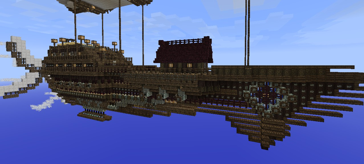 nautilus class airship fantasysteampunk minecraft project