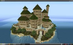Sandstone Island Fortress Minecraft Map & Project