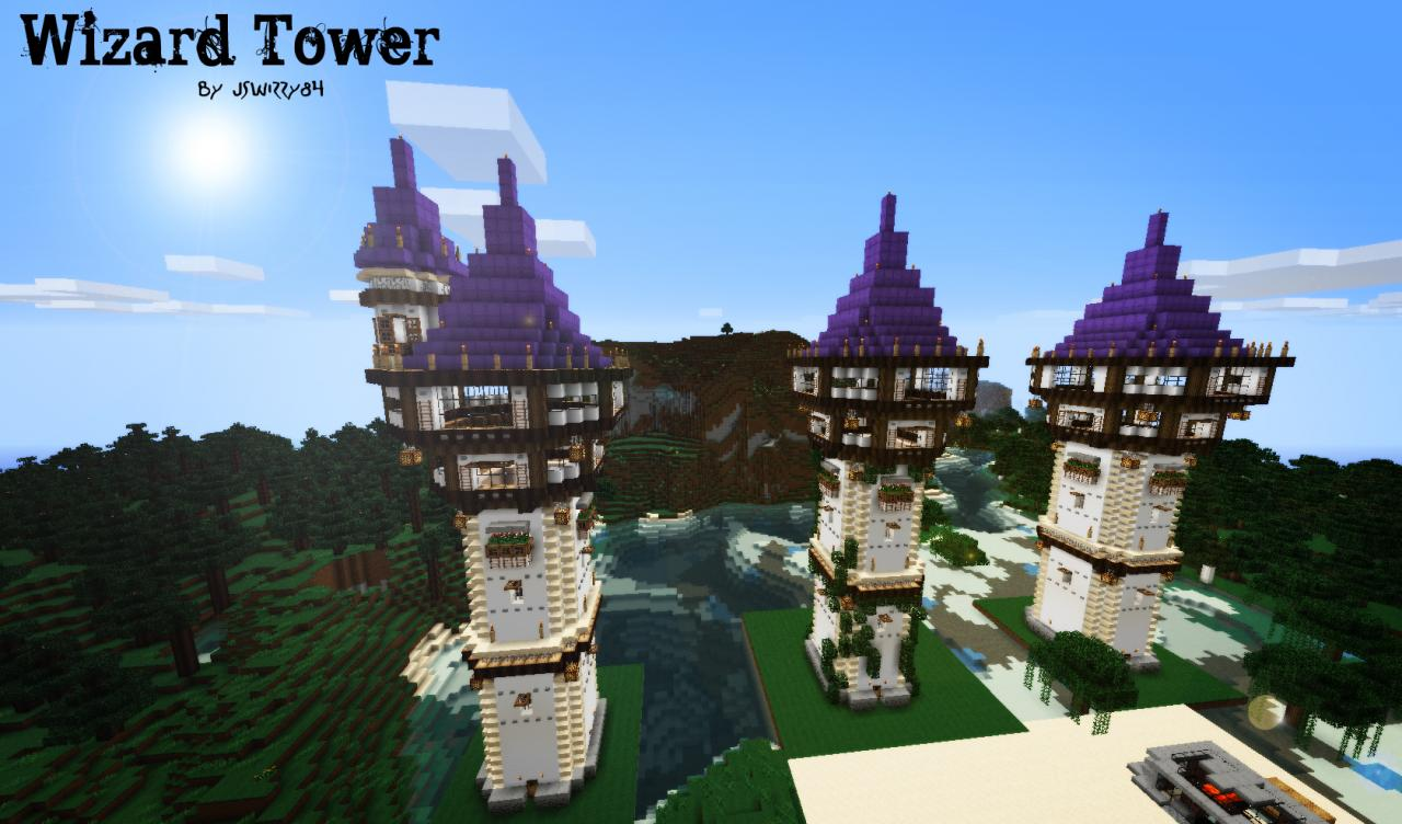 minecraft wizard tower step by step