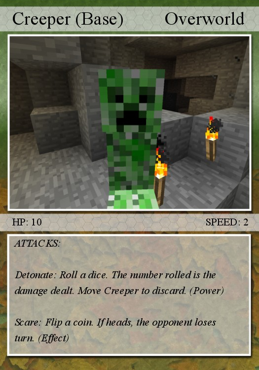 Card For Minecraft Pc Game : The gallery for gt minecraft wolf pokemon cards