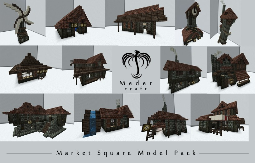 Medieval Stores Model Pack Minecraft Project