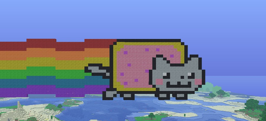 Nyan Cat Moving Animation Nyan Cat Animation in