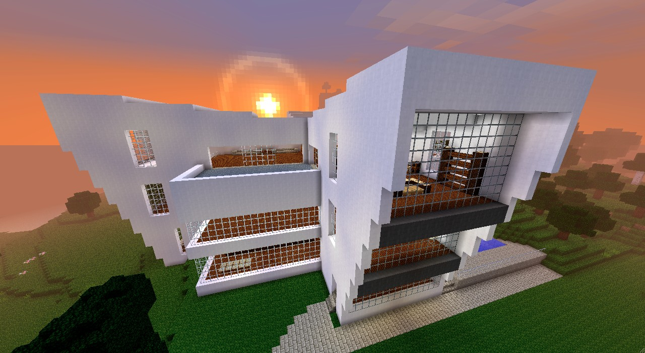 Gro es modernes haus minecraft project for Minecraft haus modern
