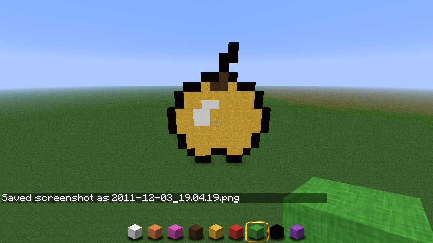 Pixel Art Golden Apple...