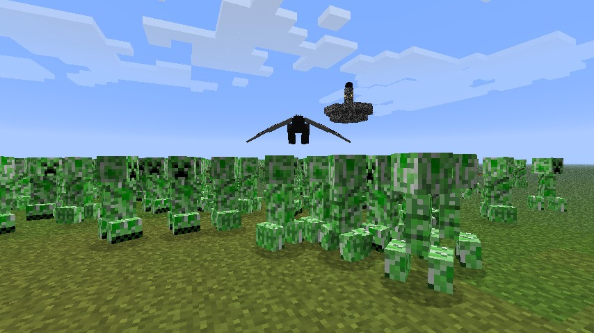 Minecraft Creeper Mod Creeper vs Dragon Minecraft