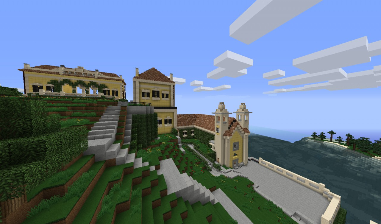 Lake como villa minecraft project - Minecraft villa ...